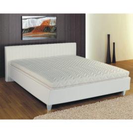 TEMPO KONDELA Manželská posteľ, ekokoža biela, 160×200, DREAM