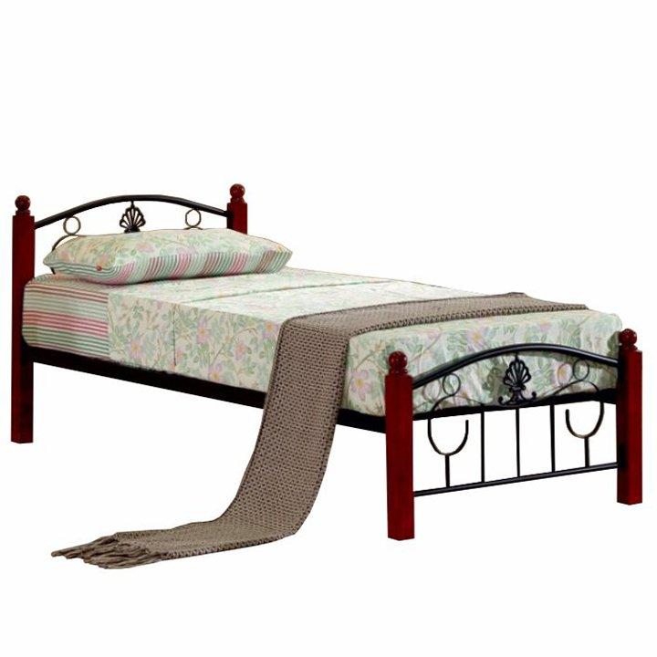 Kovová posteľ s roštom, 90×200, MAGENTA