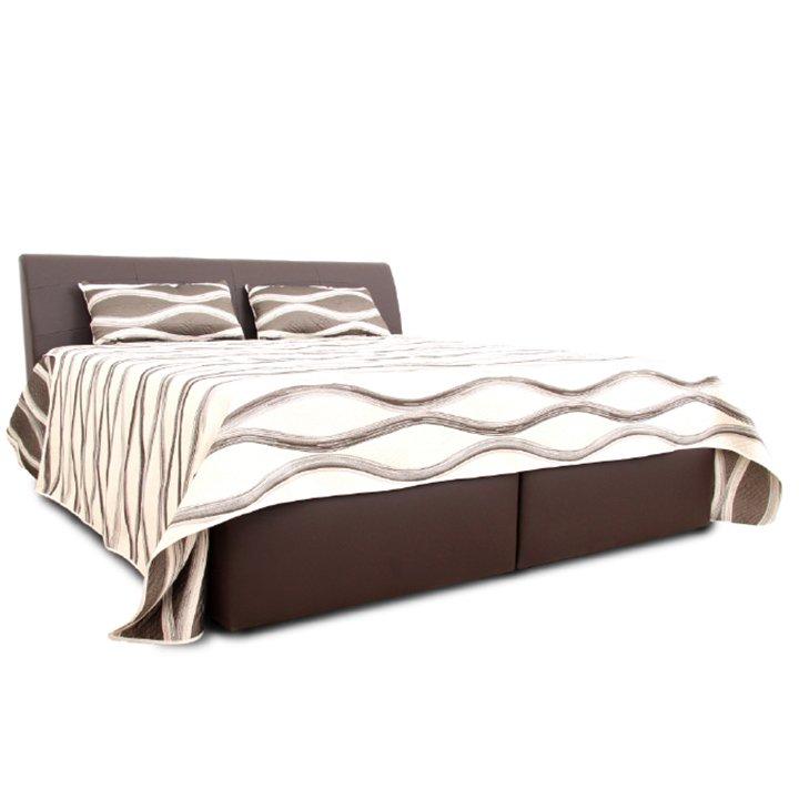 Manželská posteľ, hnedá, 180×200, MERCY
